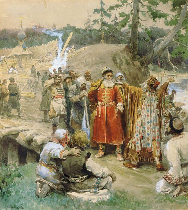 Klavdi Vasilievich Lebedev - The development of new lands by Russian | Sale  artwork, Russian art, Artist