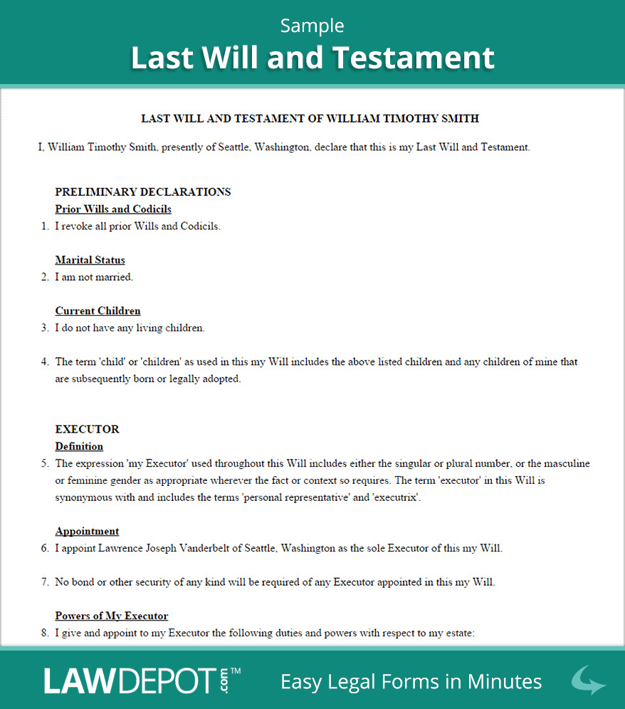 Last Will and Testament Sample | Will, testament, Last will ... Power Of Attorney Plural Form on power of appointment form, contract form, easement form, acknowledgment form,