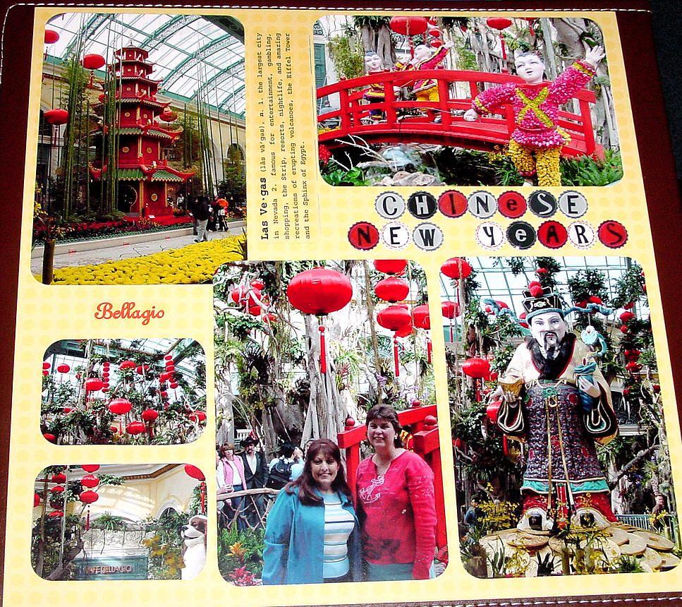 Scrapbook ideas las vegas - Las Vegas January 2006 Bellagio Conservatory Scrapbook Com