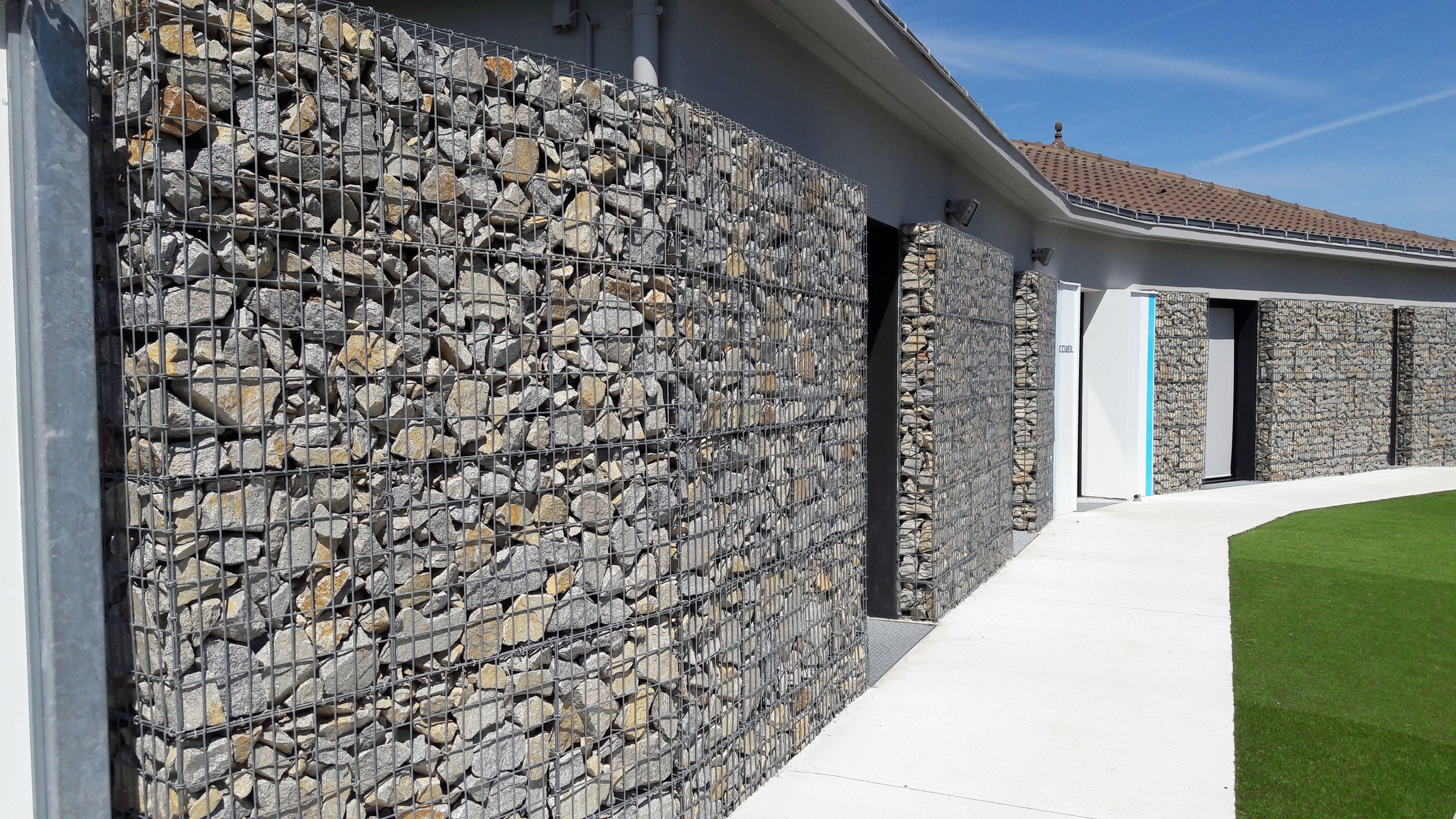 Pierre Naturelle Pour Facade gabions en pierre naturelle pour la façade d'ambulance