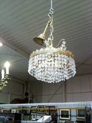 TROC!!  LUSTER KRISTAL 3 LAMPEN Wilrijk