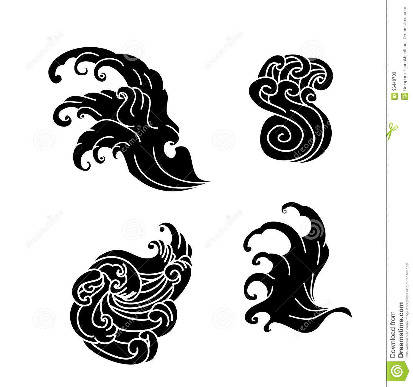 Japanese Wave Tattoo Vector In 2020 Japanese Wave Tattoos Waves Tattoo Japanese Waves