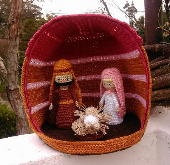 Crochet  Nativity  Nr. 2 by RosmaninhoArtesanato on Etsy