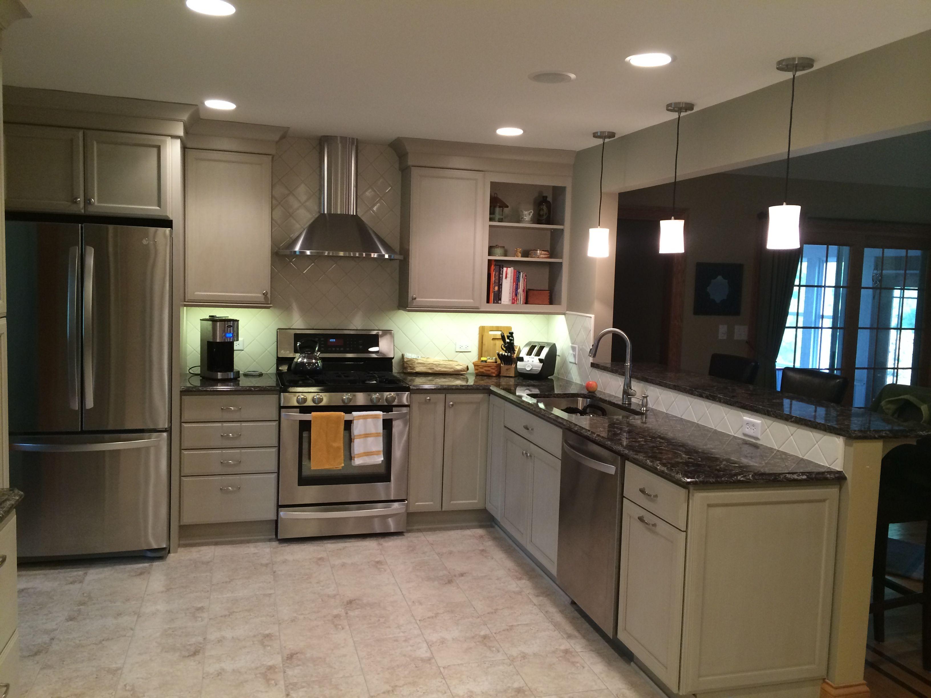 Taupe Cabinets With Cambria Quartz Countertops Taupe Kitchen Cabinets New Kitchen Cabinets Kitchen Design