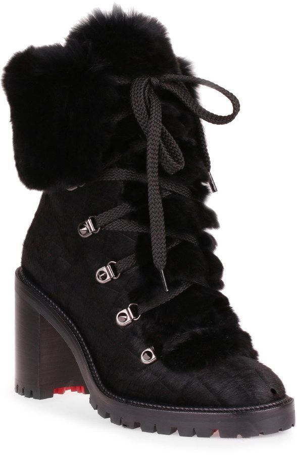 new styles 0033b 6372e Fanny 70 black pony boot | shoes | Boots, Christian ...
