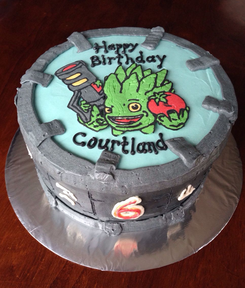 Pleasing Skylanders Giants Food Fight Cake Buttercream With Images Funny Birthday Cards Online Sheoxdamsfinfo
