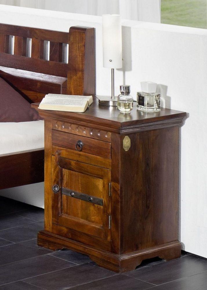Nachttisch Schrank Versandfrei Kaufen Massivmoebel24 Akazie Mobel Nachtkonsole Nachttisch Gunstig