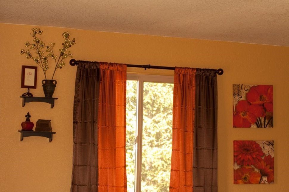 orange living room curtains country rustic designs image result for burnt and brown