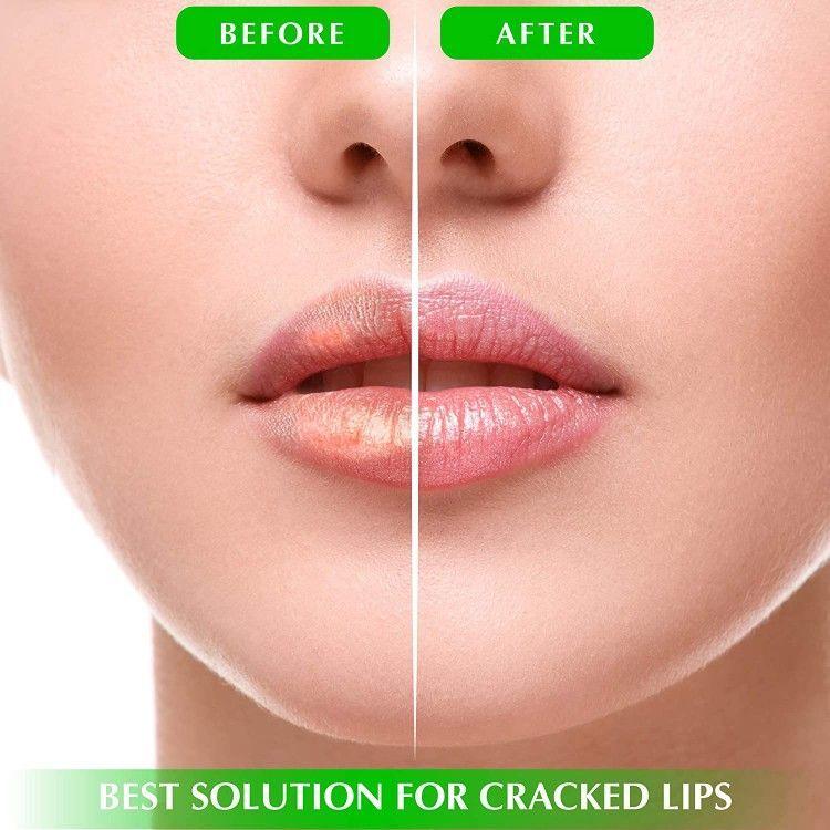 Photo of Moisturizing Green Tea Matcha Sleeping Lip Mask Balm, Younger Looking Lips Overnight, Best Solution