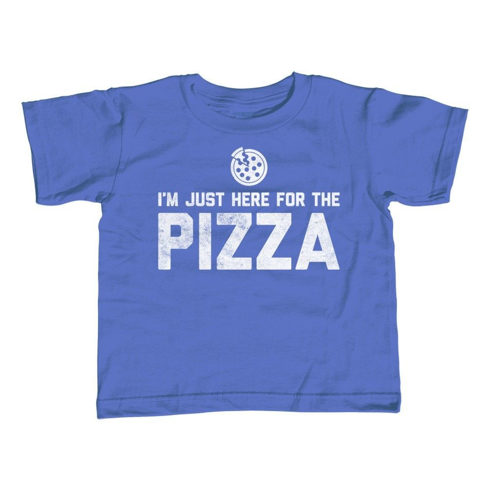 Boy's I'm Just Here for the Pizza T-Shirt Hipster Funny Foodie