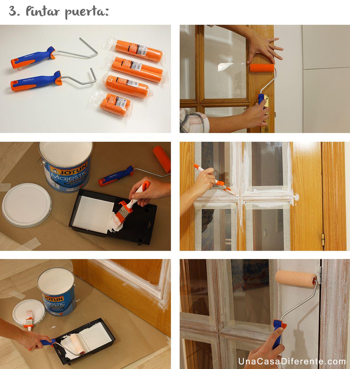 Aprende c mo pintar puertas de madera en blanco sin lijar for Pintar puertas en blanco paso a paso