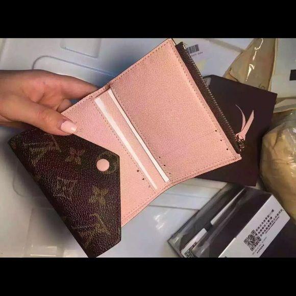 louis vuitton victorine wallet. fashion wallet not au th lv victorine w/rose ballerine interior. high quality louis vuitton