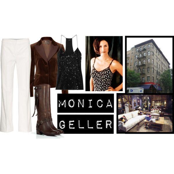 Monica Geller-Bing, created by reredrum on Polyvore