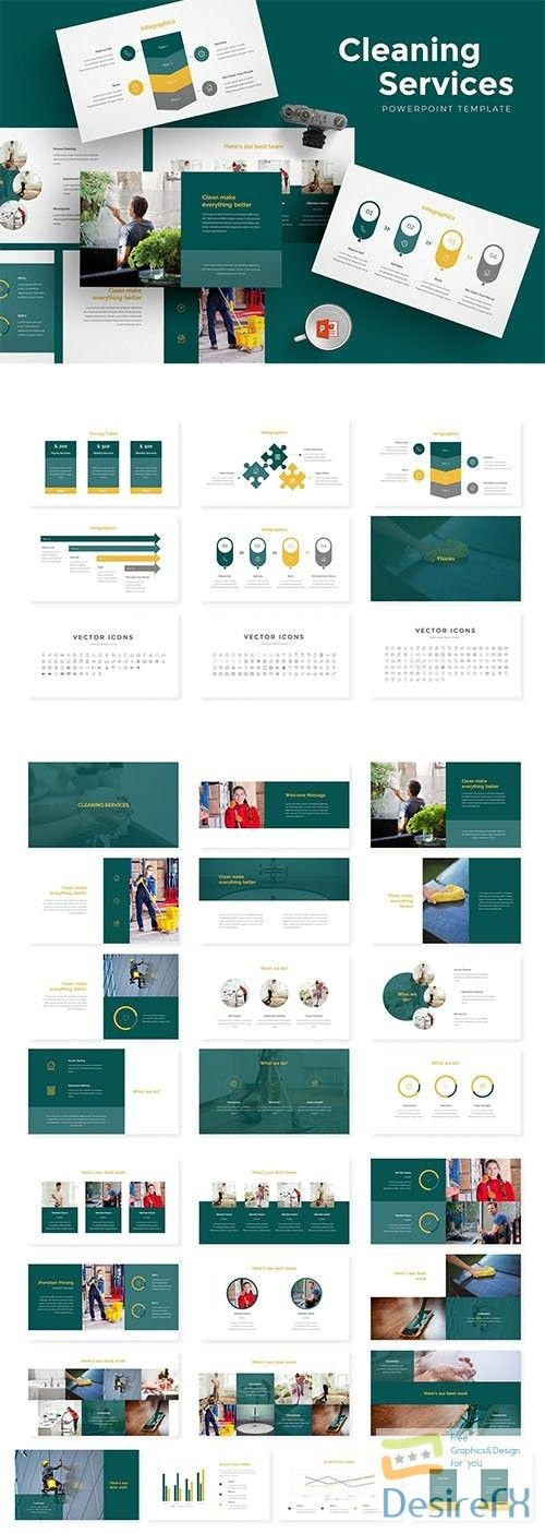 Cleaning Services Powerpoint Template Graphics Powerpoint design