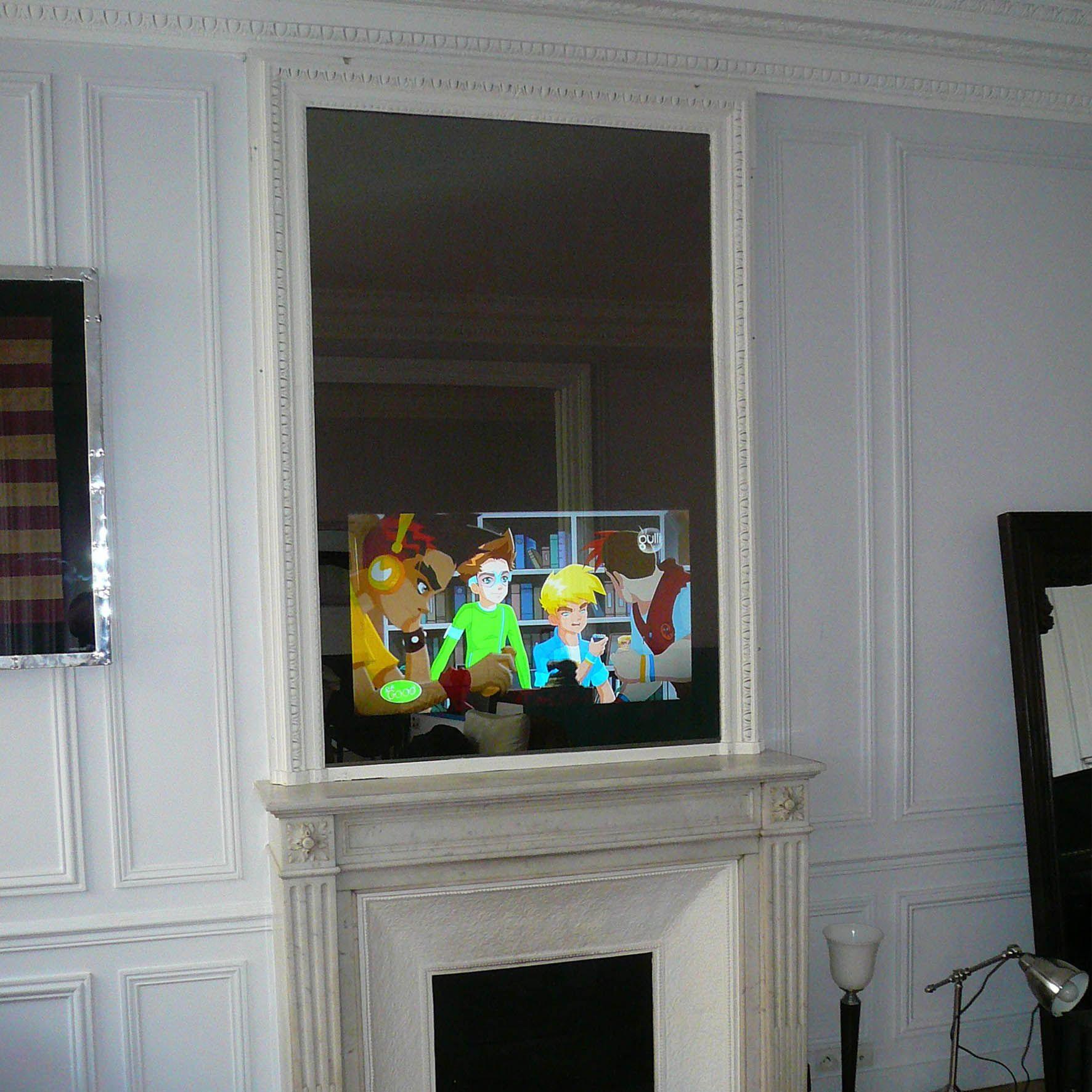 Hymage Fabricant Et Concepteur De Televiseur Miroir Tv Miroir  # Tv Encastrable