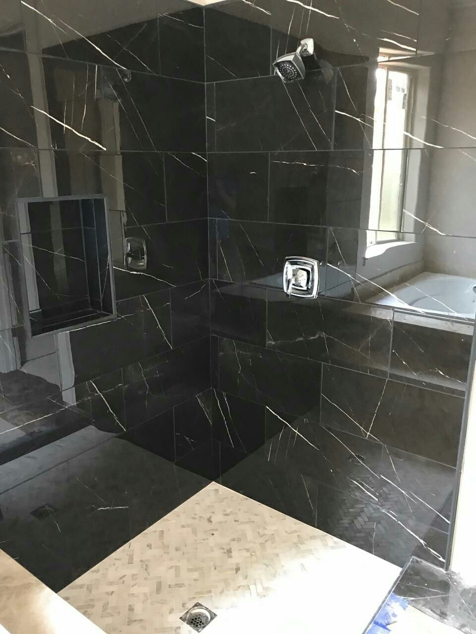 Daltile Ma Polished Nero Marble Attaché Tile Installation Ideas - Daltile portland maine