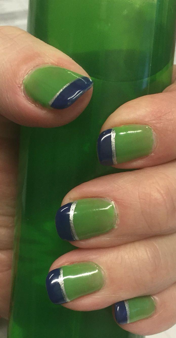 Seahawks Nail Design (Nail Spa Kent, WA) | Nail Designs | Pinterest ...
