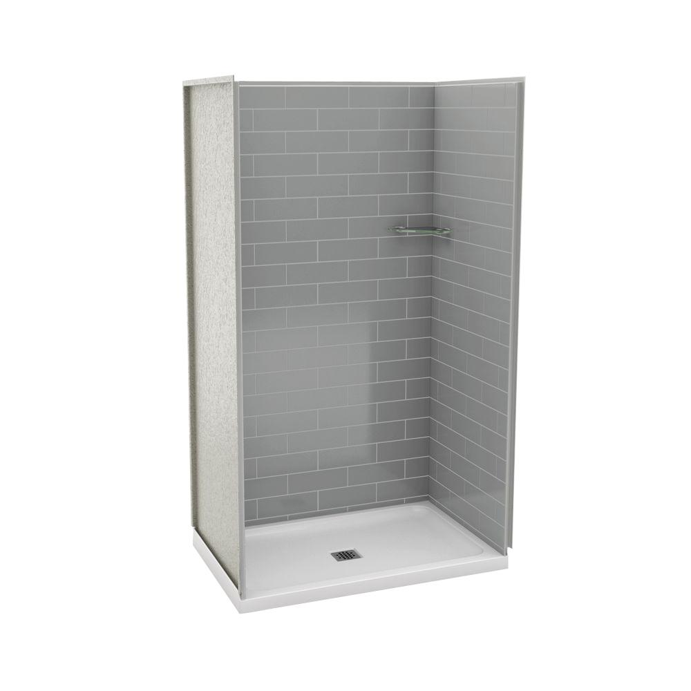 Maax Utile Metro 32 In X 48 In X 83 5 In Alcove Shower Stall In