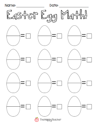 Egg-cited for Easter! | Plastic easter eggs, Math and Recording sheets