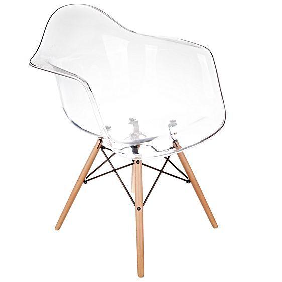 Shop For Replica Charles U0026 Ray Eames Replica Chairs Replica Eames Eiffel  DAW Clear Armchair At ShopStyle.