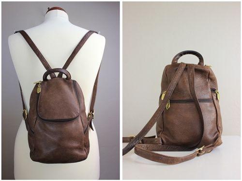 Soft Leather Backpack Purse | Crazy Backpacks