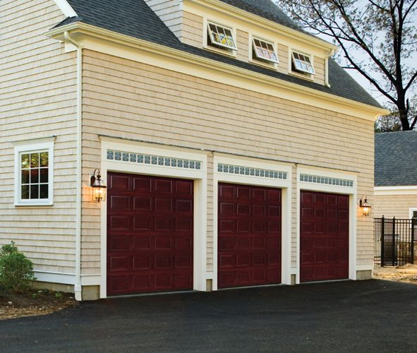 Garage Doors With Transom Windows Over Transoms Containing The Georgetown Door Lite Can Be Used For