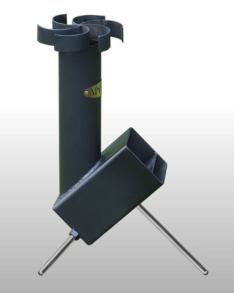 Apostol mini rocket stove reduced end of line only 45 for Portable rocket stove plans
