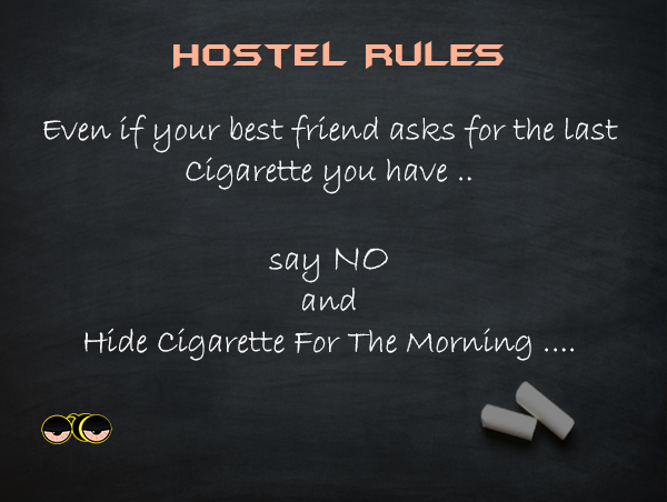 Hostel Life Rocks Grin Emoticon Collegelife Hostel