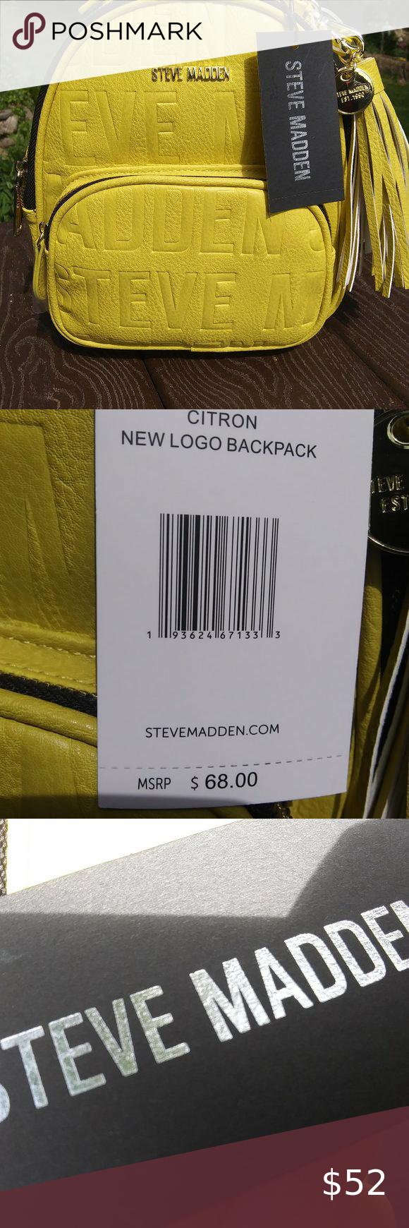 Nwt Steve Madden Logo Mini Backpack In 2020 Mini Backpack Steve Madden Mini