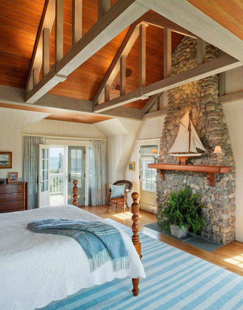 Soothing bedroom decor with seaside motifs - beach house ..♥♥... design