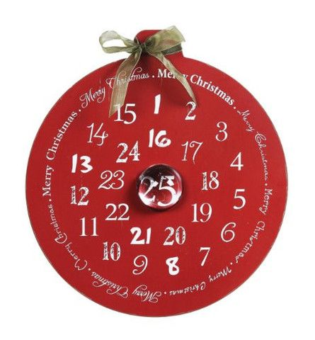Christmas Advent Calendar & Glass Magnet Creative Co-op