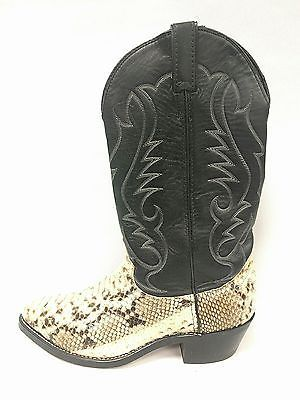 18e78320f44 LAREDO Snakeskin Python Cowboy Boots 6730 Western Boots Mens size ...