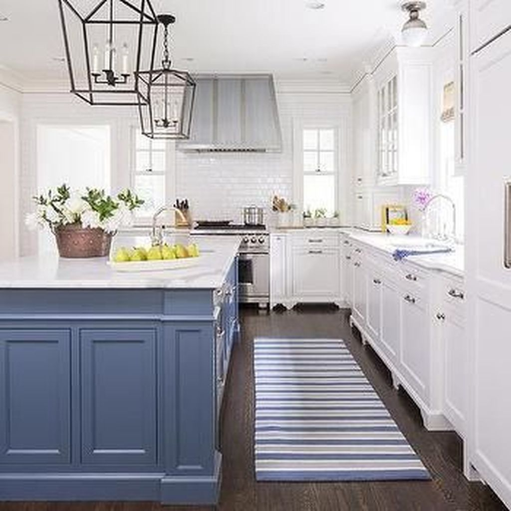 50 Preppy Kitchen Inspiration Whimsical Is Extremely Impulsive Artistic Decor Denotes The Design S Blue Kitchen Island Kitchen Inspirations Kitchen Remodel