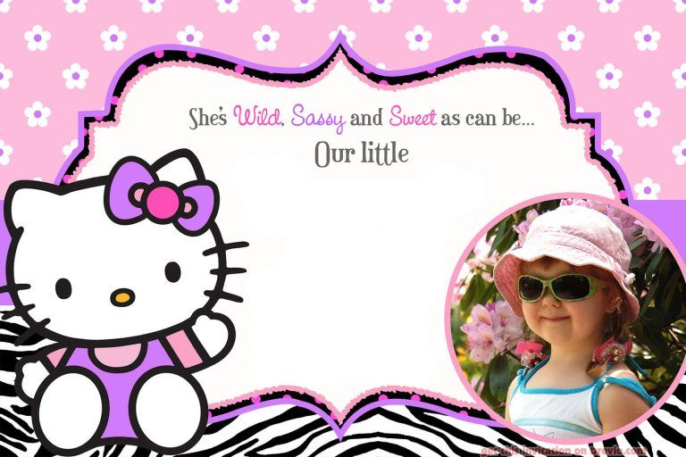 Free Printable Hello Kitty Birthday Invitation For Girl Dolanpedia Invitation In 2020 Hello Kitty Birthday Invitations Hello Kitty Invitations Hello Kitty Birthday