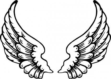 baby angel wings clip