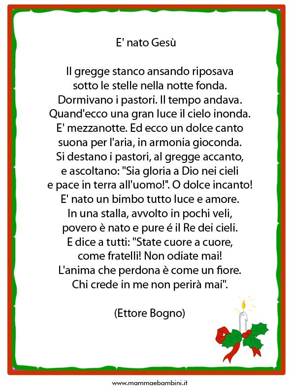 Poesie Di Natale Scuola Primaria Non Religiose.Poesie Di Natale Scuola Primaria
