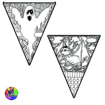 Halloween Coloring Pages Pennant Banner Coloring Pages Pinterest