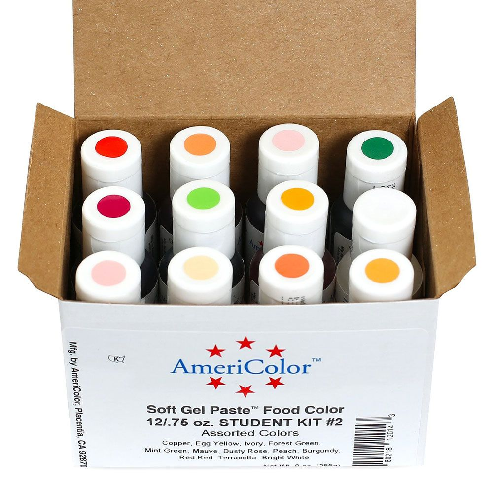 Student Kit #2 Americolor® Soft Gel Paste Food Color | Cooking ...