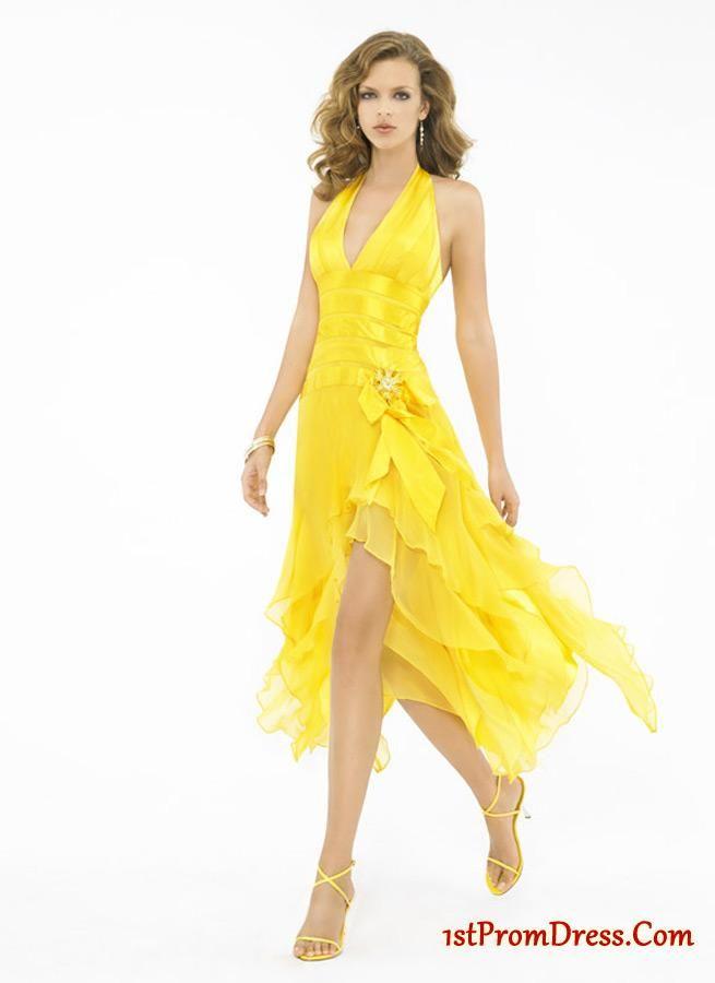 yellow halter dress omens dresses