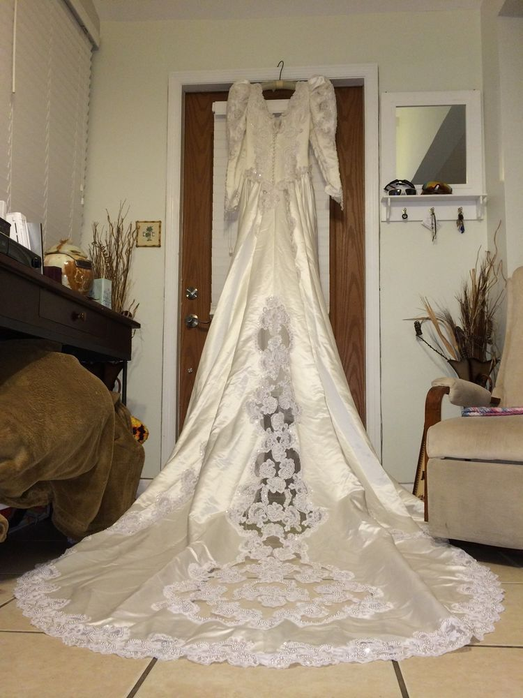 Wedding Gown by Victoria's Size 14 Ivory Beaded Cathedral