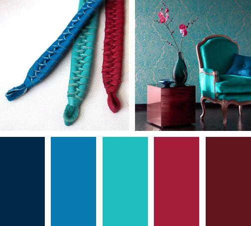 Una Triada Formada Por Azul Verde Y Rojo Una Composición De