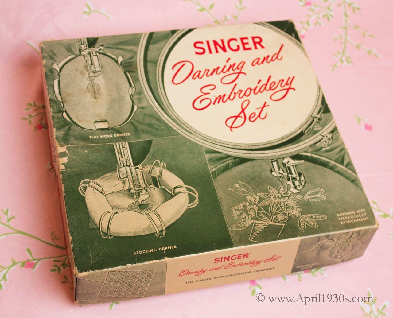Flat darner singer vintage