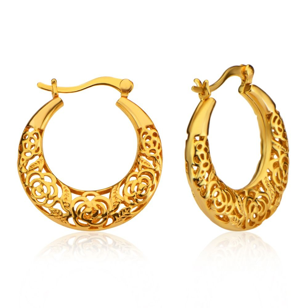 Beautiful Women Drop Earrings Luxury Gold Plated India Jewelry ...