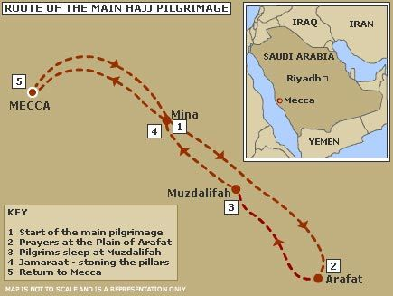 DesertRose///Pictorial map of the hajj route | Hajj map | Islam ...
