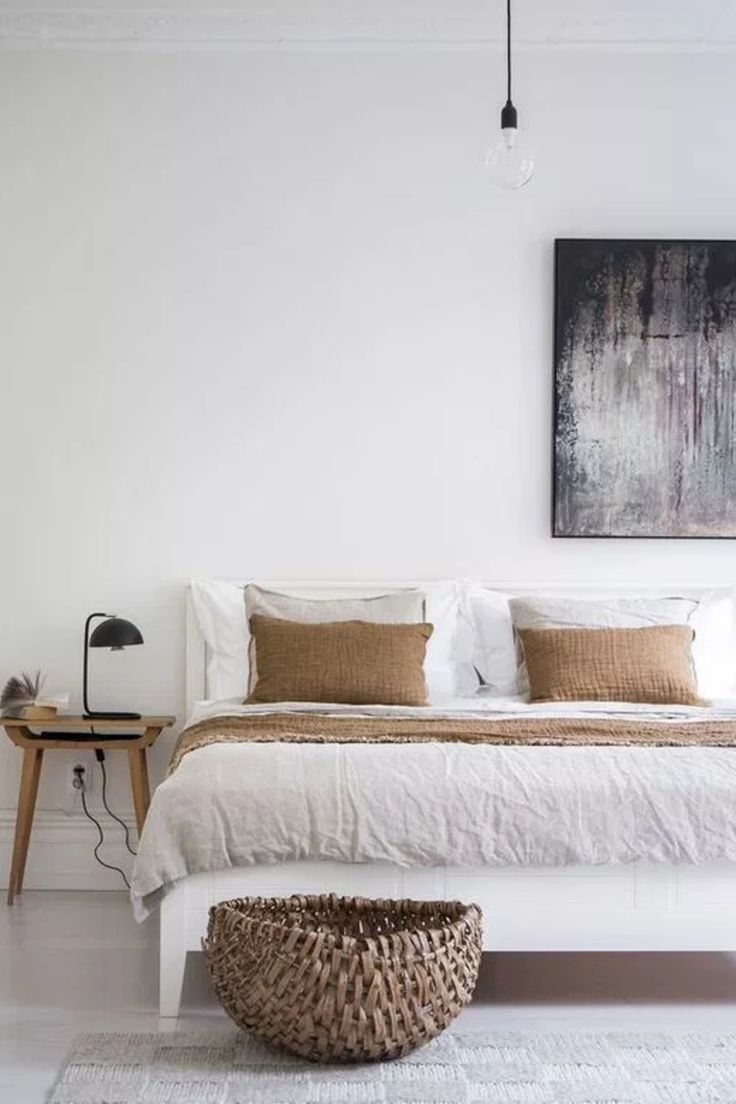 30 Boho chic Bedroom decor ideas and inspiration - neutral ... on Neutral Minimalist Bedroom Ideas  id=83211