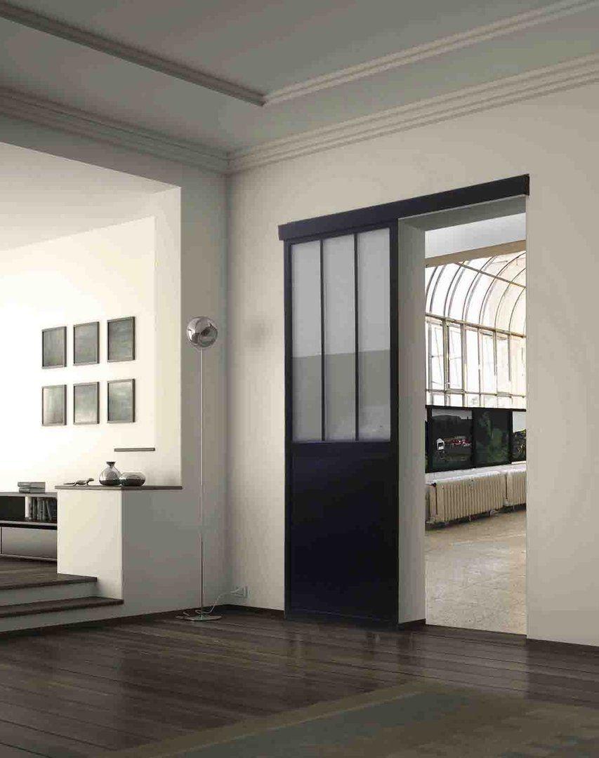 merveilleux Porte coulissante de type atelier en aluminium