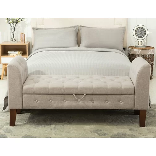 Battle Upholstered Storage Bench Upholstered Storage Bench Bench With Storage Blanket Storage