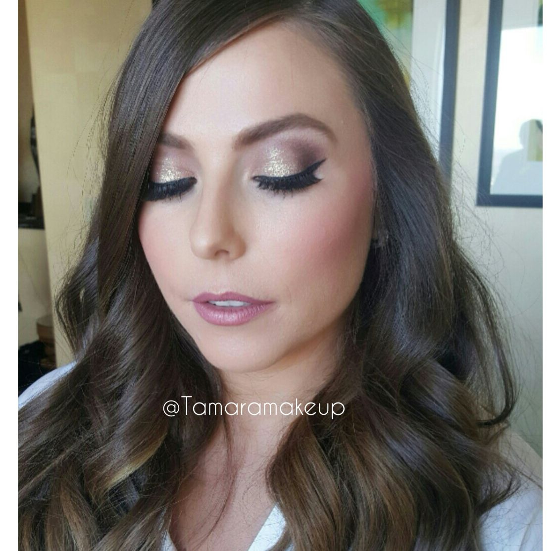 Glitter Gold Eyeshadow Perfect For Wedding Makeup Bridal Done By
