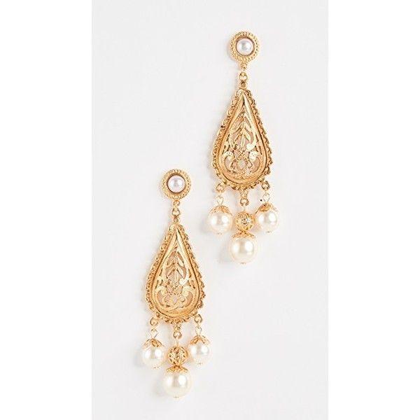 Ben-Amun Multicolor Triple Pearly Drop Earrings SdIrpaqQ
