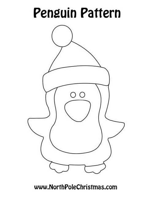 Penguin Pattern Christmas Crafts Pinterest Penguins - penguin template